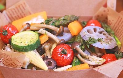 野菜が多めのランチ